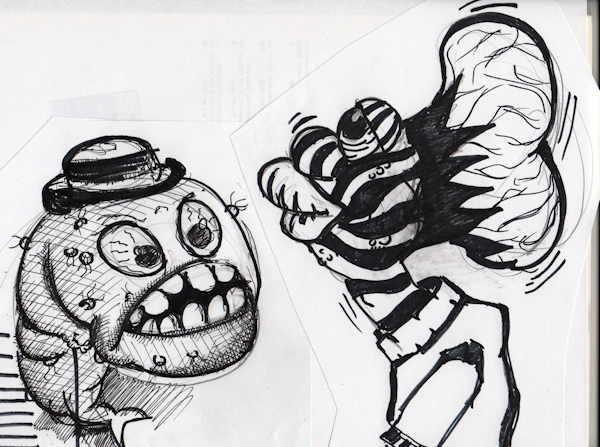 Figurenbau Skizze von Tom Haass